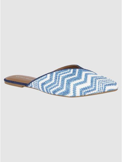 Blue Printed Slip Ons