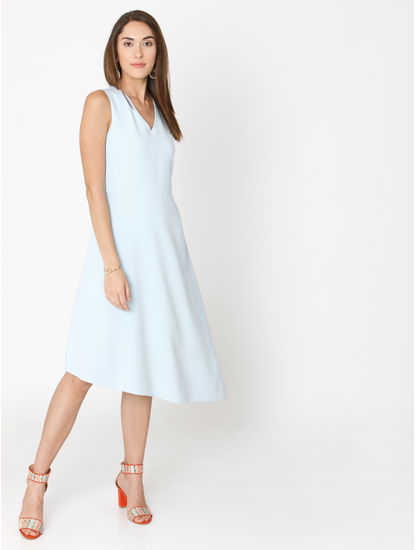 Blue Asymmetric Shift Dress