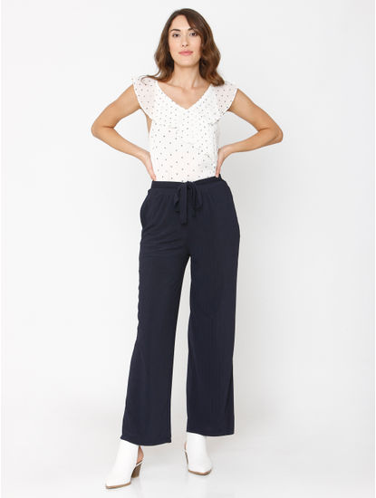 Navy Blue Drawstring Pants