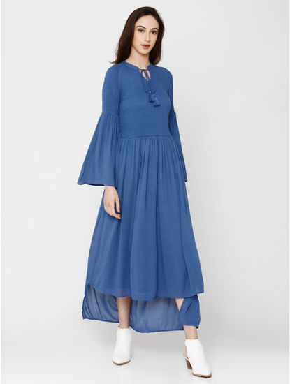 Blue Smock Maxi Dress