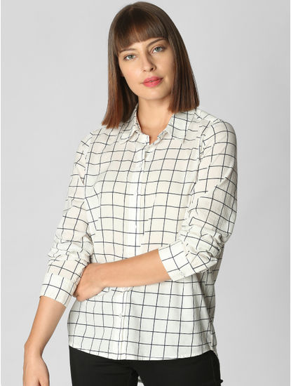 White Check Shirt