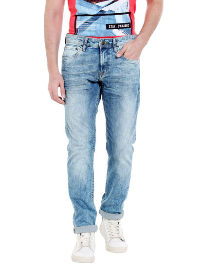 Light Blue Washed Low Rise Slim Fit Jeans