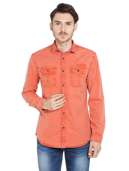 Orange Slim Fit Shirt