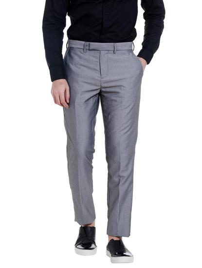 Dark Grey Regular Fit Trousers