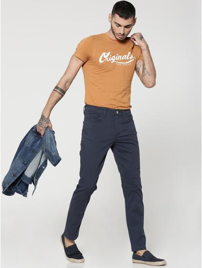 Navy Blue Tim Slim Pants