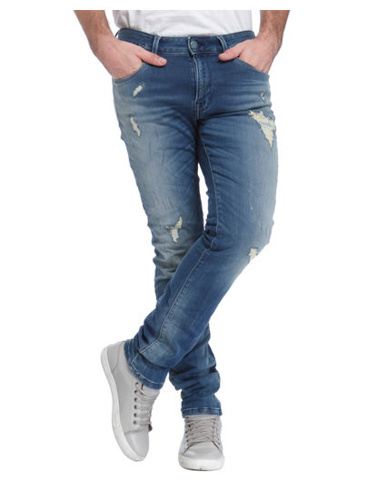 Light Blue Low Rise Skinny Fit Jeans
