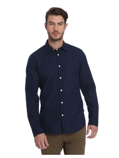 Dark Blue Slim Fit Shirt