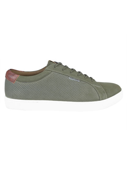 Green Faux Suede Sneakers