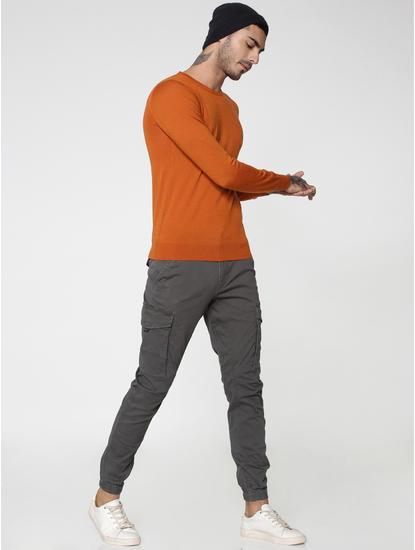 Grey Anti-Fit Cargo Pants