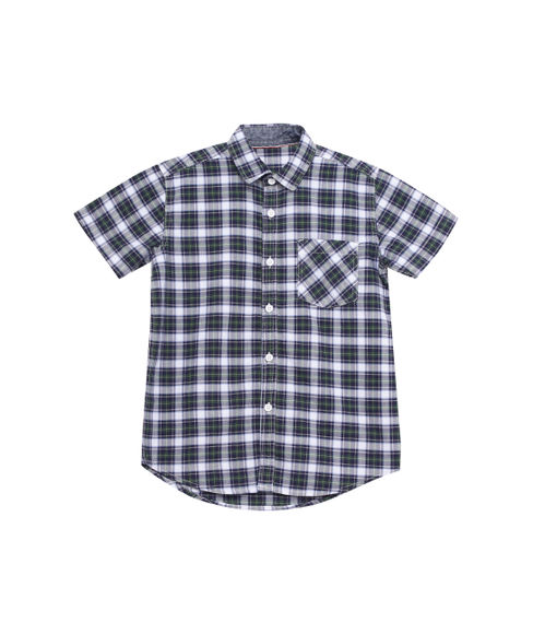 BOYS Y/D CHECKS HALFSLEEVE SHIRT
