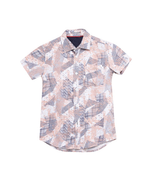 BOYS PRINTED HALFSLEEVE SHIRT