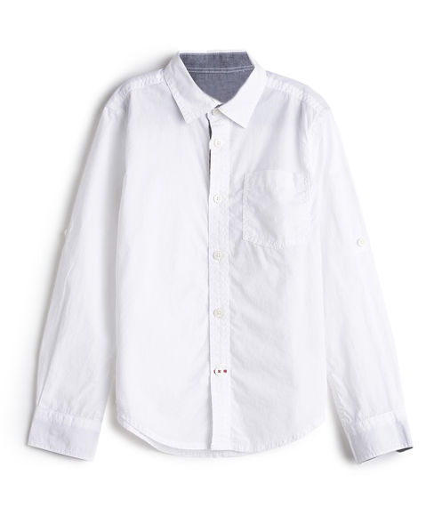 BOYS SOLID FULLSLEEVE SHIRT