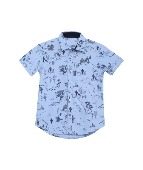 BOYS PRINTED SHIRT HALFSLEEVE SHIRT