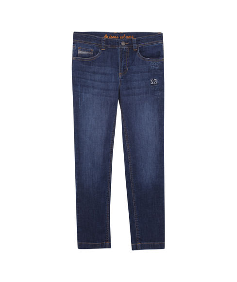 BOYS SOLID FULL PANTDENIM