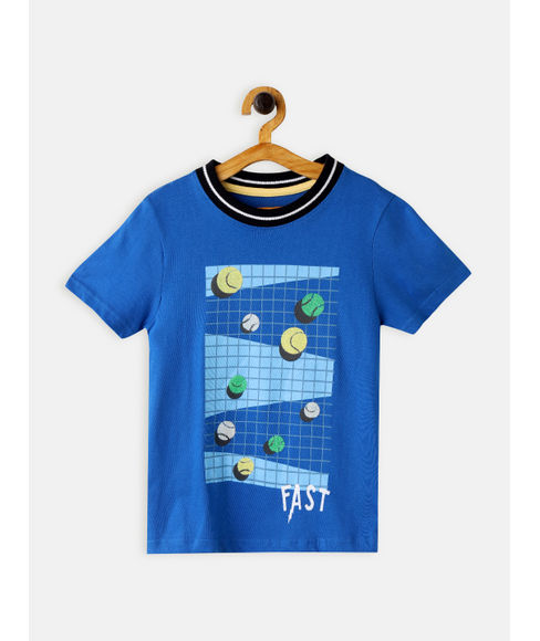 BOYS PRINTED HALF SLEEVE T SHIRT
