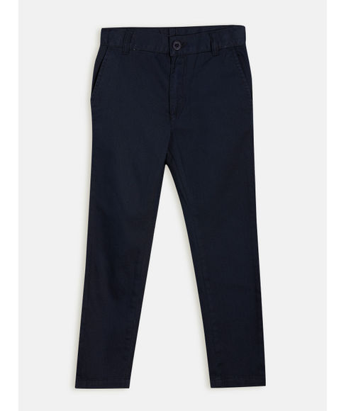 BOYS SOLID FULL PANTNON DENIM