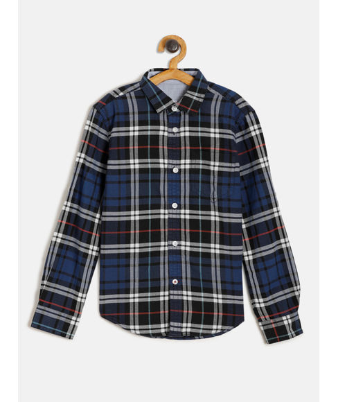 BOYS SOLID FULL SLEEVE SHIRT