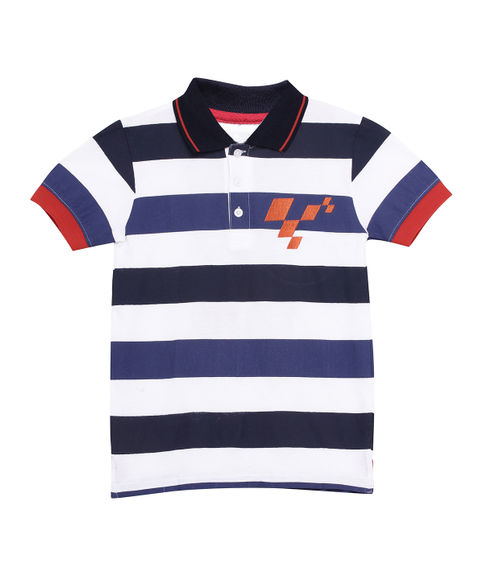 BOYS Y/D STRIPE HALF SLEEVE  T-SHIRT