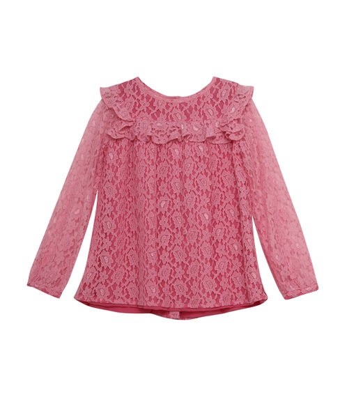 GIRLS LACE FULL SLEEVE TOP