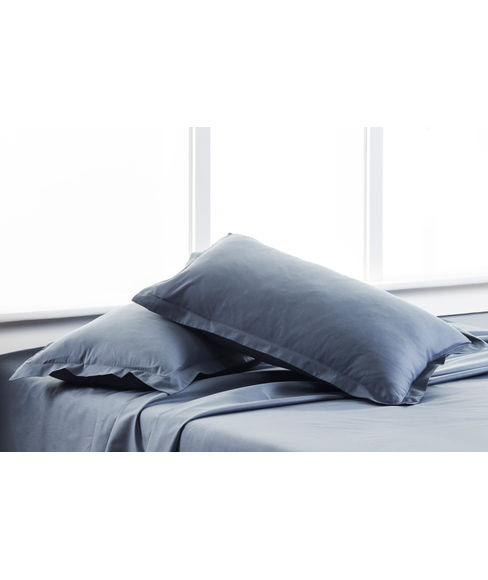 Percale Slate Pillow Cover