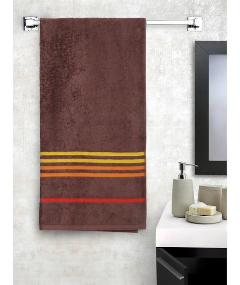 Tiara Toffee Brown Bath Towel