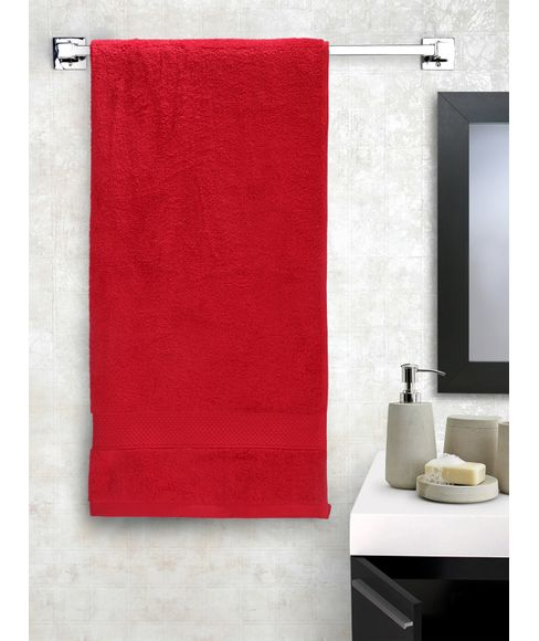 New Ultralux Cherry Red Bath Towel