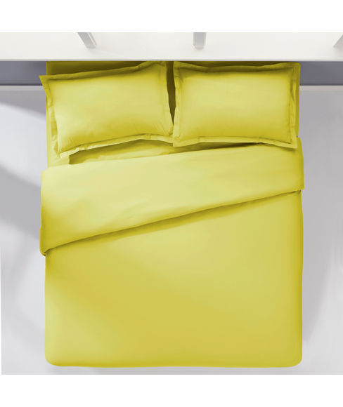 Percale Apple Green Duvet Cover King Size
