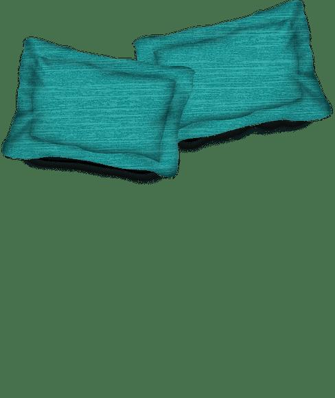 Imprints Bright Aqua Pillow Cover Set
