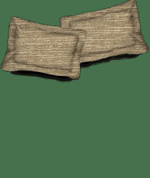 Imprints Chocolate Brown Pillow Cover Set