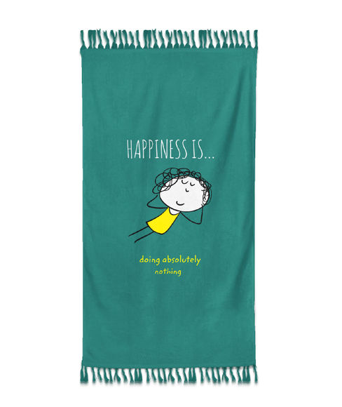 Happiness Is Medium Towel