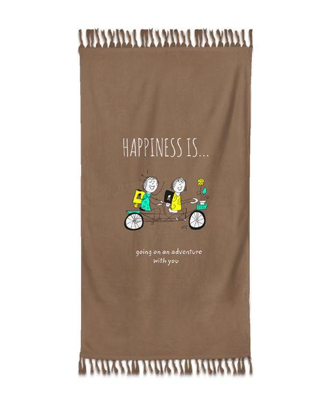 Happiness Is Bath Towel