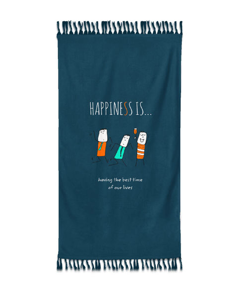 Happiness Is Bath Towel
