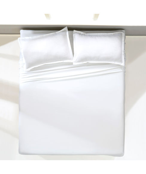 Percale Optical White Bedsheet Double Size
