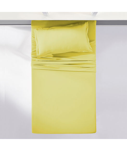 Percale Apple Green Bedsheet Single Size