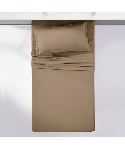 Percale Oatmeal Bedsheet Single Size