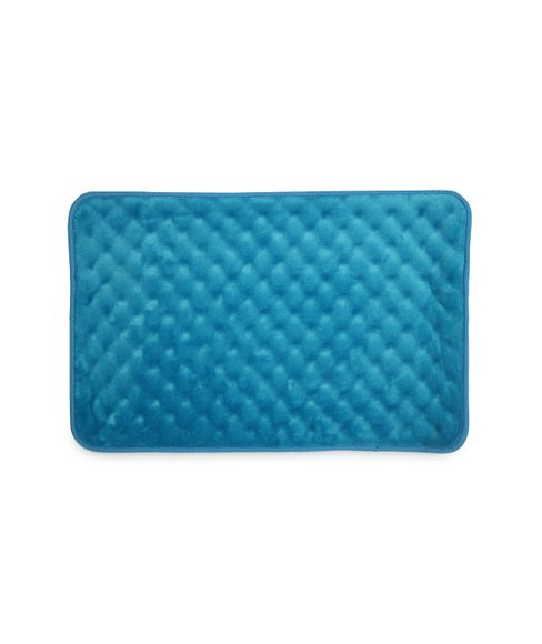 Eggshell Mosaic Blue Bath Mat Large Size
