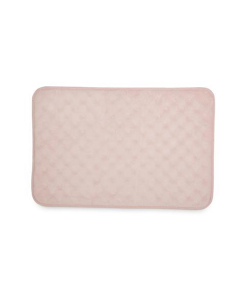 Eggshell Pink Icing Bath Mat Large Size
