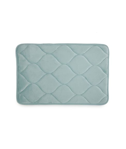 Quilted Sea Green Bath Mat Small Size