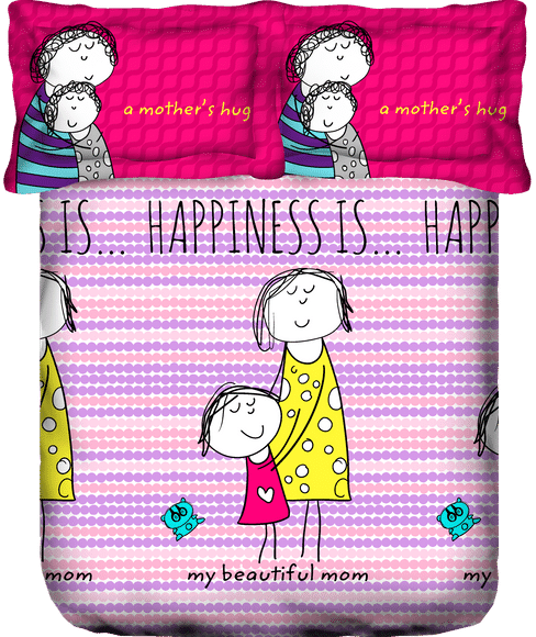 Happiness Is Bedsheet King Size