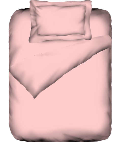 Percale Baby Pink Duvet Cover Single Size