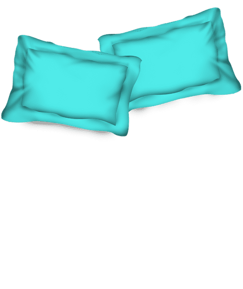 Percale Peacock Blue Pillow Cover Set