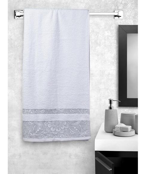 Ariana Jacquard Optical White Bath Towel
