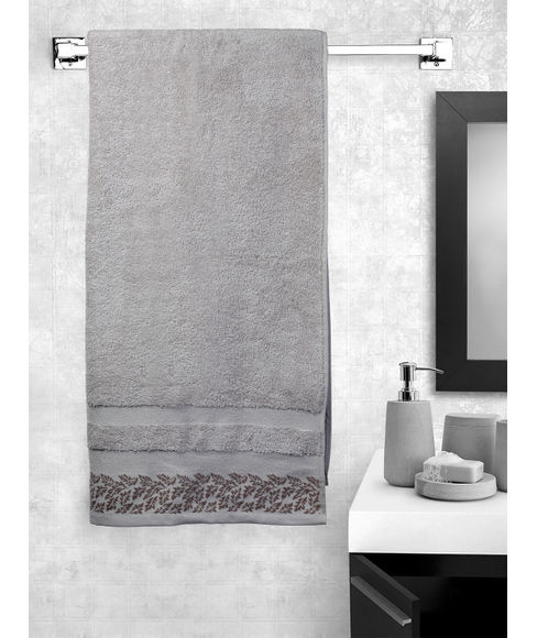 Ariana Jacquard Light Mauve Bath Towel
