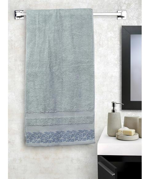 Ariana Jacquard Inky Sky Bath Towel