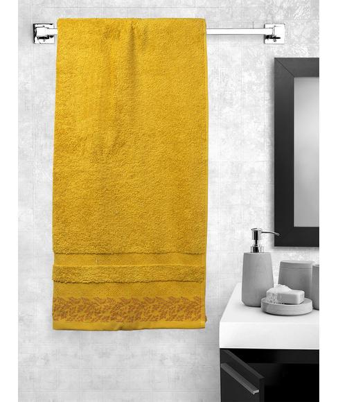 Ariana Jacquard Mustard Bath Towel