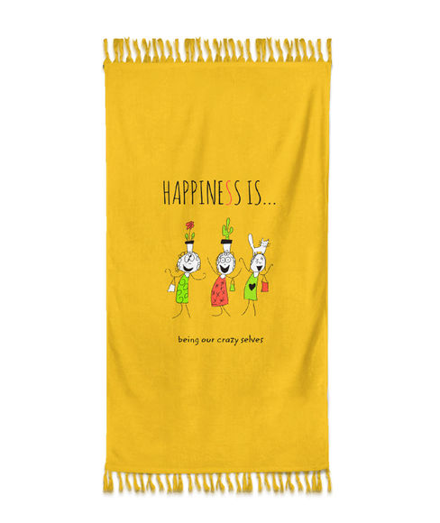 Happiness Is Towel Medium Size