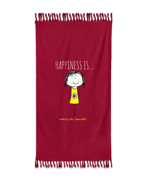 Happiness Is Towel Xl Bath Size