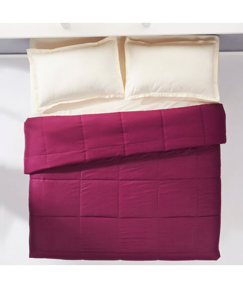 Snow Flakes Burgundy Comforter Double Size