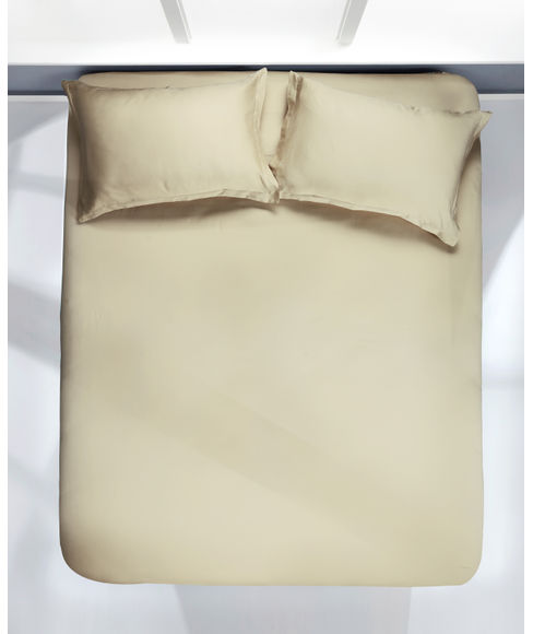 Organic Tan Bedsheet Super King Size