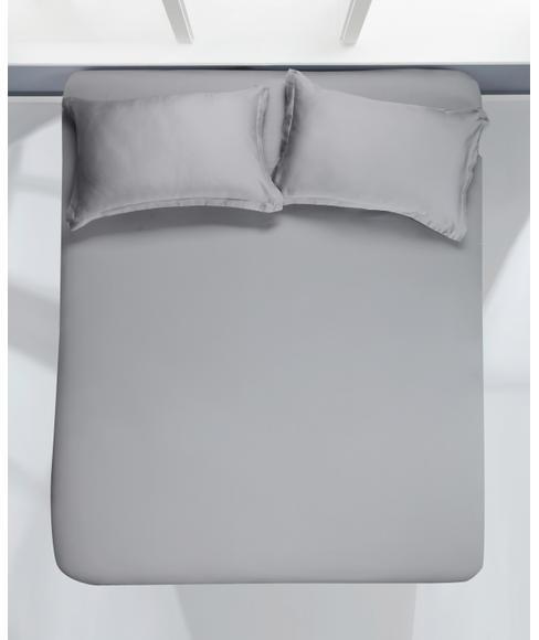 Organic Grey Bedsheet Super King Size